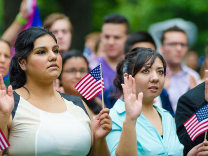 'Dreamers' protestando ante el Congreso