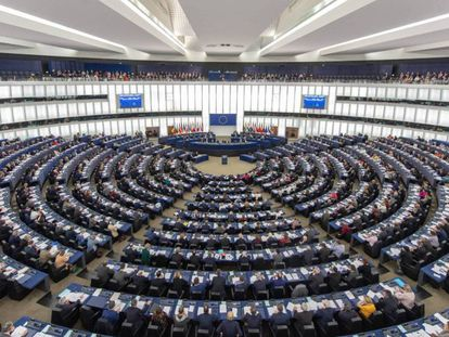 Imagen del peno de la Eurocámara en Estrasburgo.