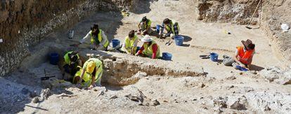Excavaciones en un yacimiento visigodo en Vicálvaro.