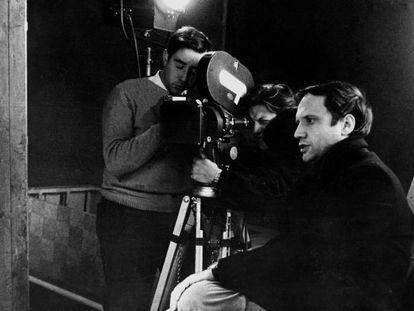 Pere Portabella en 1968 durante el rodaje de 'Nocturno'.
