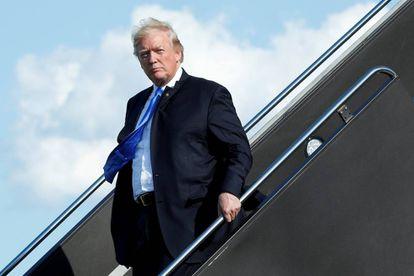 El presidente de EE UU, en el aeropuerto de New Jersey.