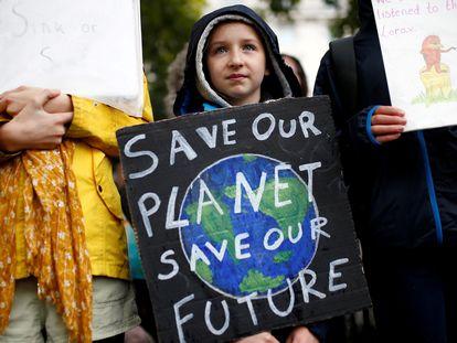 Acción de protesta del grupo Extinction Rebellion (XR) en Londres, el 12 de octubre.