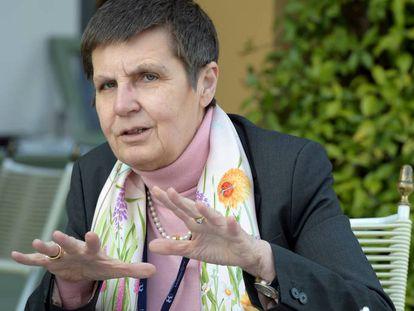 Elke Konig, presidenta de la Junta Única de Resolución (JUR), que intervino el Popular en junio de 2017.