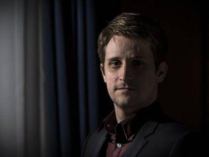 Edward Snowden, en un hotel de Moscú, en agosto de 2017.