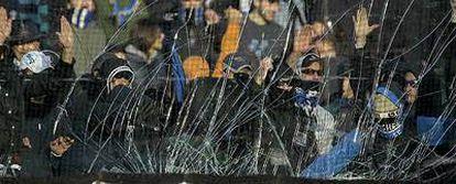 Incidentes en un partido de la pasada temporada entre el Atalanta y el Milan.
