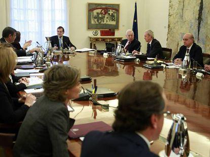 Foto archivo de una reunión del ex Consejo de Ministros.