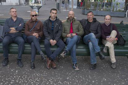 De izquierda a derecha, Francisco Toledo, Alonso Sánchez, Javi Gómez, Ginés Hidalgo, Antonio Peñalver y Ginés Ramírez.