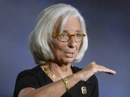 En la imagen, la directora gerente del Fondo Monetario Internacional (FMI), Christine Lagarde. EFE/Archivo
