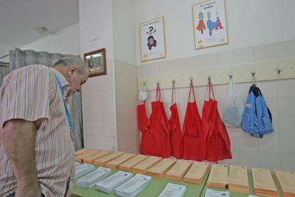 Un colegio electoral, el pasado 24 de mayo.