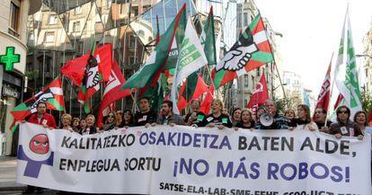 Manifestación de Osakidetza en Bilbao.