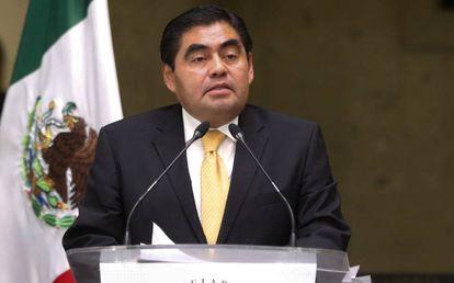 El gobernador de Puebla, Miguel Barbosa, en una foto de archivo.