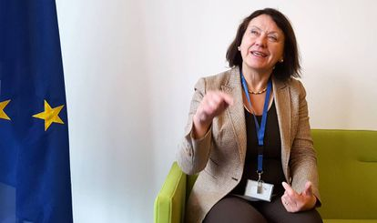 Langbakk en el Instituto Europeo de Igualdad de Género (EIGE) en Lituania, la semana pasada.
