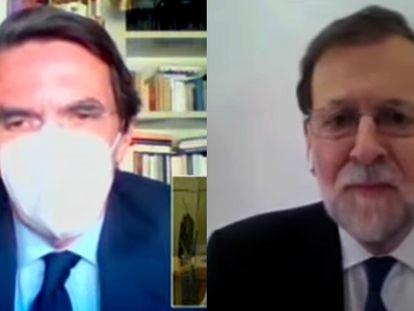Aznar y Rajoy declaran como testigos en el juicio por la caja b del PP.