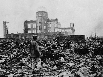 Hiroshima tras la bomba atómica en 1945.