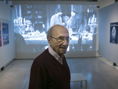 Pere Portabella, el pasado diciembre en una exposición sobre su obra en el Museo Can Framis de Barcelona.