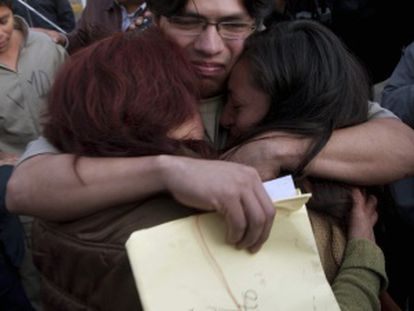 Uno de los detenidos liberados este domingo.
