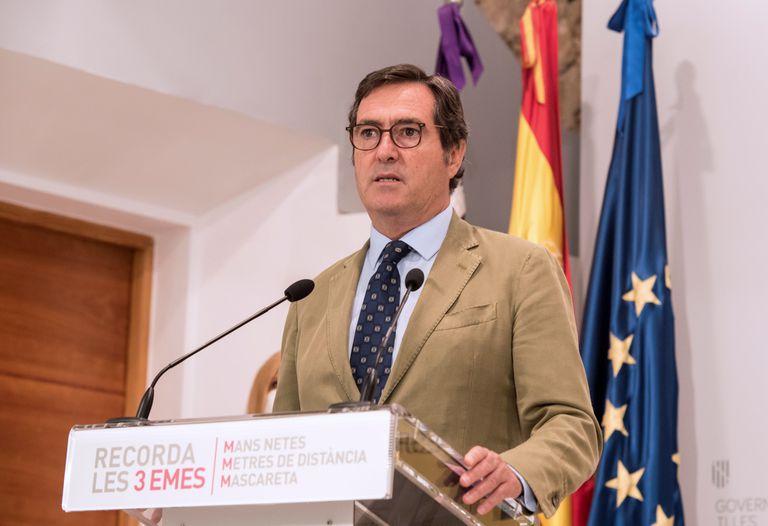 El presidente de la CEOE, Antonio Garamendi, el viernes.