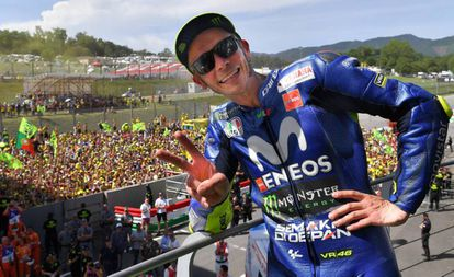 Valentino Rossi, el año pasado en Mugello.