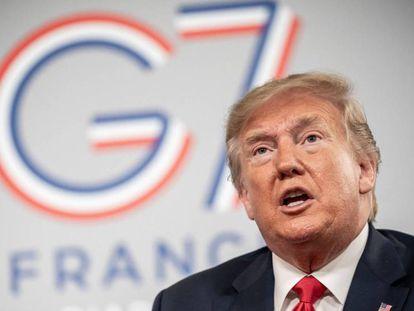 Donald Trump, este lunes en la cumbre del G7 en Biarritz (Francia). / Vídeo: Declaraciones del presidente de Estados Unidos.