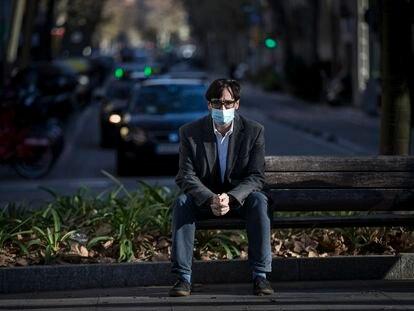 El ministro de Sanidad, Salvador Illa, el pasado jueves, en Barcelona.