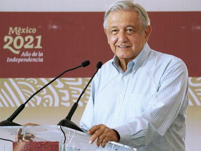 López Obrador ha encabezado este sábado la supervisión de obra de la carretera San Ignacio-Tayoltita en Sinaloa.