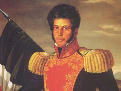 Retrato de Vicente Guerrero.