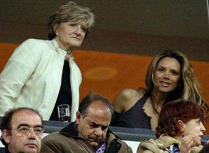 Victoria Beckham, en un partido en el estadio Santiago Bernabéu.