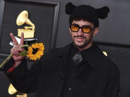 Bad Bunny en la gala de los Premios Grammy en Los Ángeles el pasado 14 de marzo.