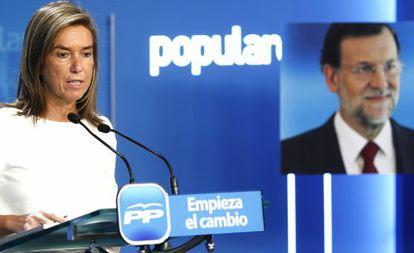 Ana Mato, vicesecretaria general del PP y responsable de la campaña de Mariano Rajoy.