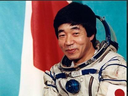 Toyohiro Akiyama, en una foto oficial antes de viajar a la MIR.