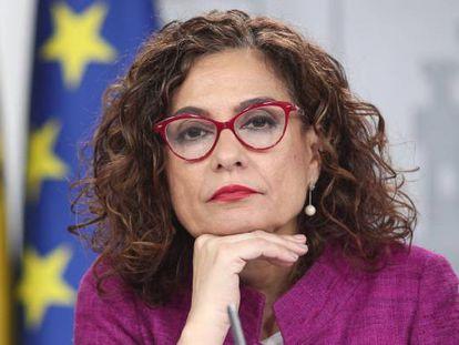 La ministra Portavoz y de Hacienda, María Jesús Montero, tras el Consejo de Ministros.