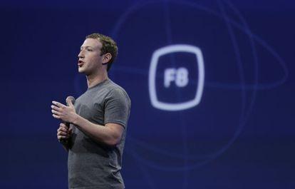 Mark Zuckerberg en la conferencia de desarrolladores de Facebook