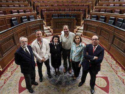 Trabajadores del Congreso.