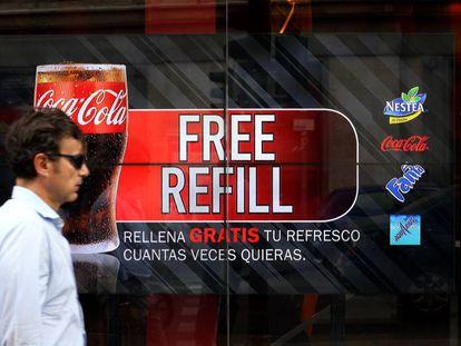 Publicidad con palabras en inglés, el año pasado en Madrid.