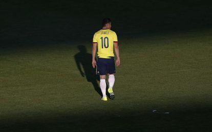 James, en el partido contra Venezuela.