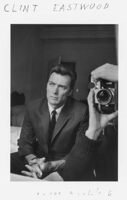 Clint Eastwood retratado por Michals.