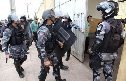 Policías entran en el complejo de Pedrinhas, en S?.