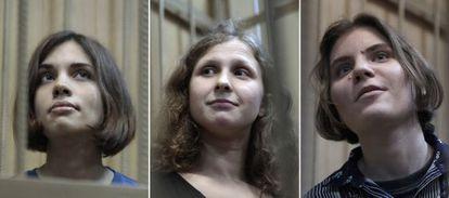 Las Pussy Riot: Nadezhda Tolokonnikova Maria Alyokhina y Yekaterina Samutsevich.