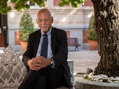 Hans Dahlgren, ministro de Asuntos para Europa de Suecia, en la Embajada de su país, en Madrid este lunes.