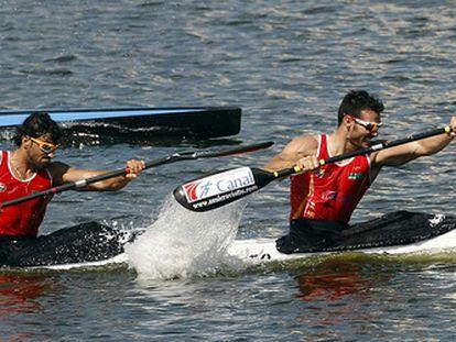 Saul Craviotto y Carlos Pérez Rial, durante la final de K-2 200 metros.