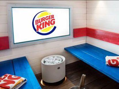 La cadena de comida rápida de Finlandia ofrece a sus clientes la posibilidad de alquiler una sauna para comer las hamburguesas por un precio de 150 euros
