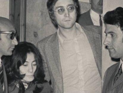 Yoko Ono y John Lennon, en un fotograma de 'Kyoko'.