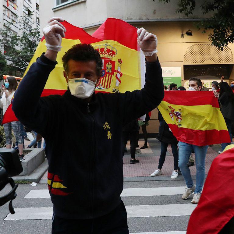 Las protestas contra el Gobierno en el barrio de Salamanca en Madrid el pasado 14 de mayo.