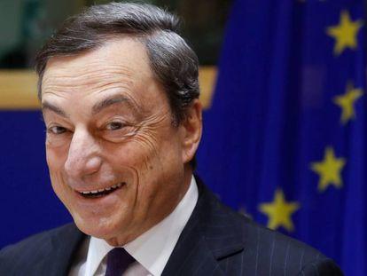 El presidente del Banco Central Europeo, Mario Draghi, en Bélgica (Bruselas) el 20 de Noviembre, 2017.