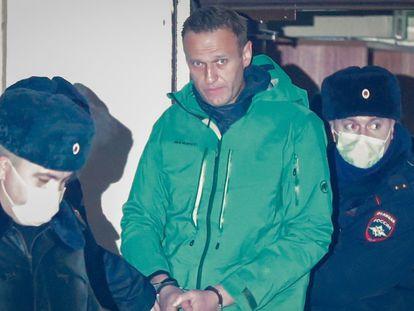 El opositor ruso Alexei Navalni fue detenido el pasado enero, a su llegada a Moscú desde Alemania.