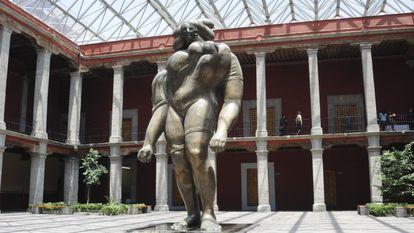 El patio del Museo José Luis Cuevas, ubicado en el Centro Histórico de la Ciudad de México.