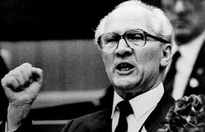 El presidente de la RDA Erich Honecker, en 1986.