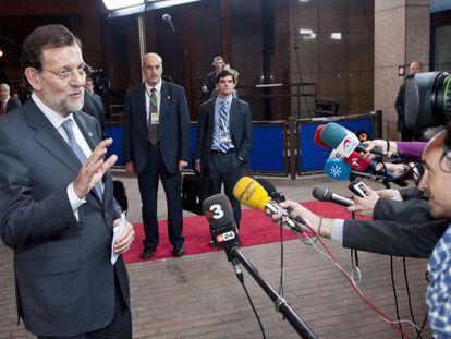 Mariano Rajoy al término de la cumbre informal de Bruselas.