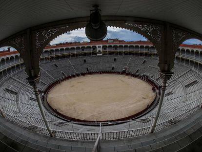 La plaza de toros de Las Ventas, vacía.
