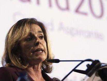 La alcaldesa de Madrid, Ana Botella, durante la presentación de Madrid 2020,